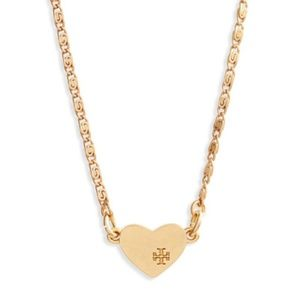 Tory Burch Gold Heart Pendant Necklace NEW